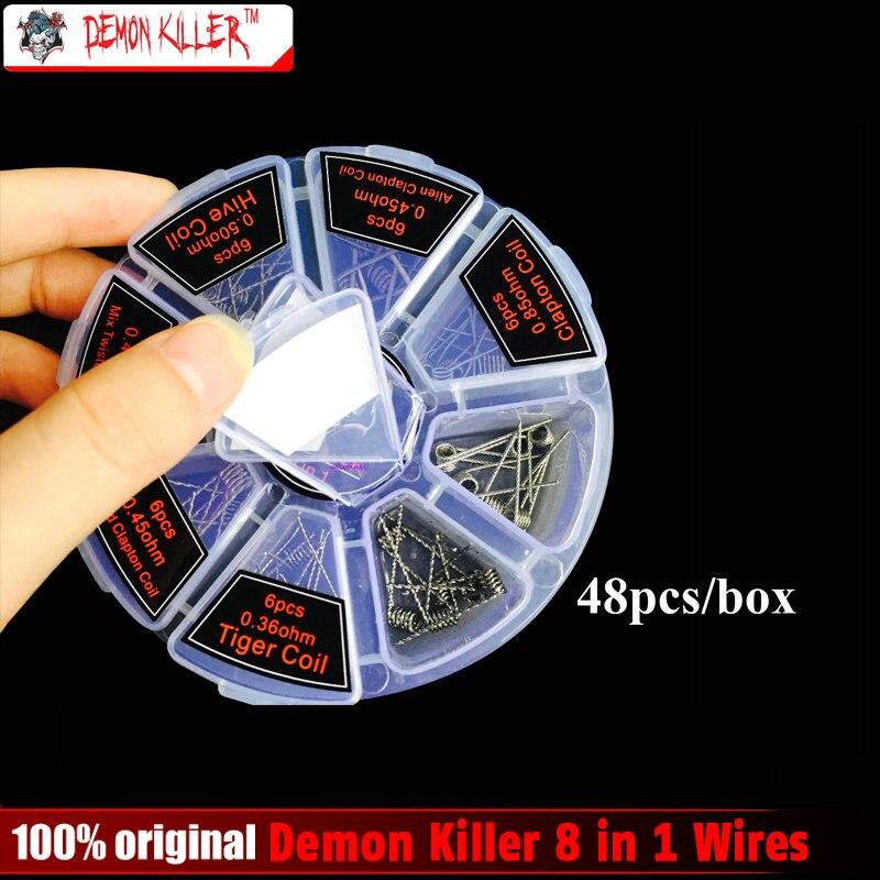 8 in 1 Dämon Mörder Draht Vorgefertigte Spulen Clapton Quad Tiger Hive Alien Verschmolzen Clapton Mix Twisted Spule fit DIY zerstäuber