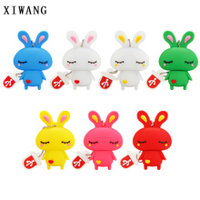 usb flash drive 32gb 2.0 Lovely cartoon Rabbit pen 4gb 8gb 16gb 64gb stick 128gb red bunny Memory Disk Girl Gifts