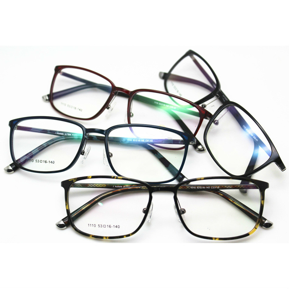 Exceed Light Tungsten Titanium Plastic Steel Spectacle Frame High Archives Prescription Eyewear Frame Tide Man Myopia Glasses