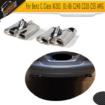 Stainless Steel Exhaust Pipe Muffler Tips For Benz S-Class W220 S430 S500 Dual Muffler Tips