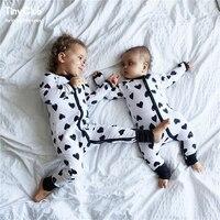 Infantile Salopette Manches Longues Floral Barboteuse Bébé Garçon Fille Vêtements Minuscule Cotons Nouveau-Né Bébé Onesie Salopette Tenues Pyjamas