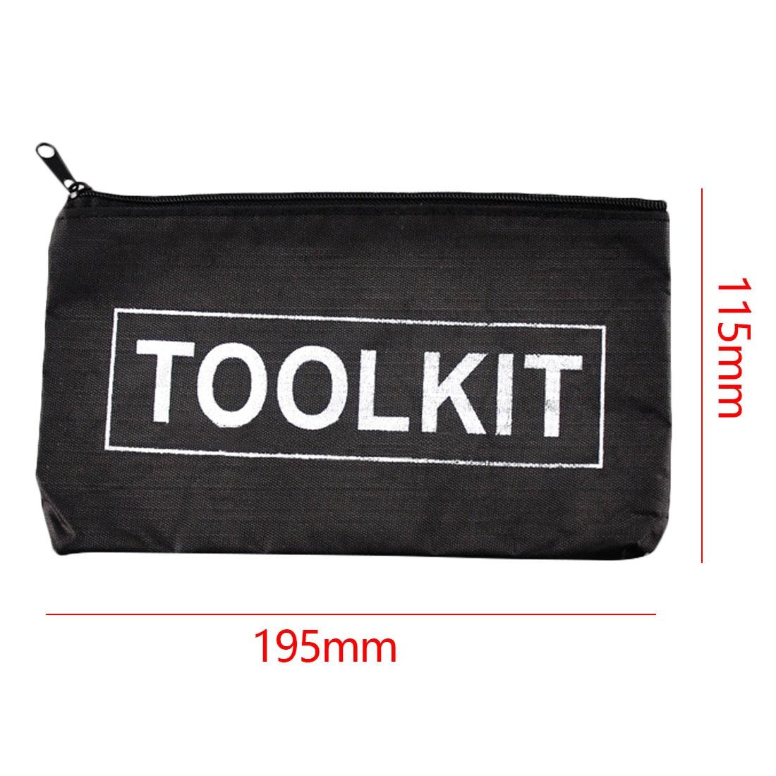 Купить с кэшбэком Black Yellow Waterproof Oxford Cloth Tools Set Bag Zipper Storage Instrument Case Pouch Tool Kit Packaging Bag Tool Organizers