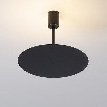 Nowoczesne Lampy Sufitowe żelaza Okrągłe Czarne Lampy Sufitowe Do Salonu Oświetlenie Kuchni Oprawy Luminaria Led Teto Oświetlenie Domu
