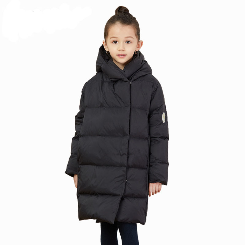 5-12T Boys and Girls Winter Down Parkas 2018 New Brand Unisex Jacket Filling Amount 80% White Duck Down For Kids Outwear Coat
