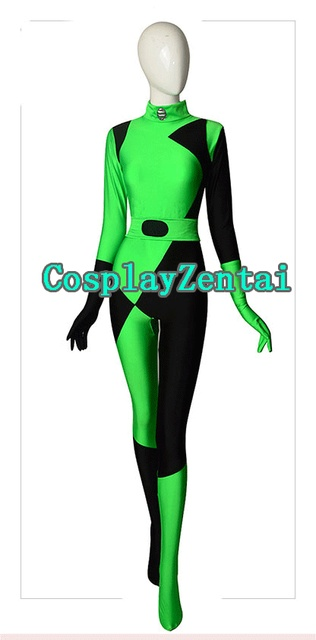 2018 Newset Shego Kim posible Super Villain Cosplay traje de Spandex trajes  de halloween para la fc28f5c4b4ac