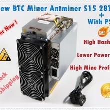 Б/у BTC BCH 7nm Asic Miner AntMiner S15 28T SHA256 Майнер лучше, чем BITMAIN S9 S9j Z9 WhatsMiner M3 M10