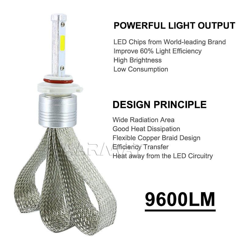 2 x Auto Headlight Bulb H7 LED Tailor-made Daya Tinggi 96 W 9600lm - Lampu mobil - Foto 3
