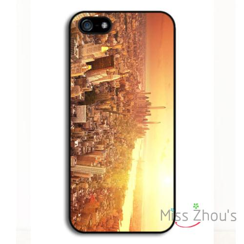 For Samsung Galaxy mini S3/4/5/6/7 edge plus Note2/3/4/5 cellphone cases cover New York City Skyline Sky Scrapers Sunset