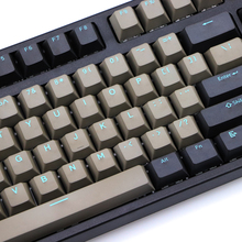 ダブルショット pbt キーキャップ黒グレー混合青単語 dolch 108 87 チェリープロファイルキーキャップ mx スイッチキーボードキーキャップ