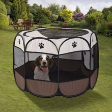 S M L Portable Outdoor Detachable Folded Folding Waterproof Octagonal Pet Dog Cat Kennel Puppy Fence Oxford Tents Cage
