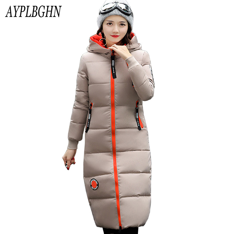 Winter Jacket high quality Women Parka Thick Winter Outerwear Plus Size Coat 2017 new Slim Cotton-padded Long Jackets&Coats 6L29 high quality 2017 new winter fashion cotton thick women jacket hooded women parkas coats warm parka outerwear plus size 6l69