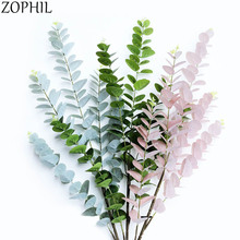 Green Artificial Plants Single Branch Eucalyptus Leaves Wall Materials Decoratve Home Decor Garden party Fake Plant leaf