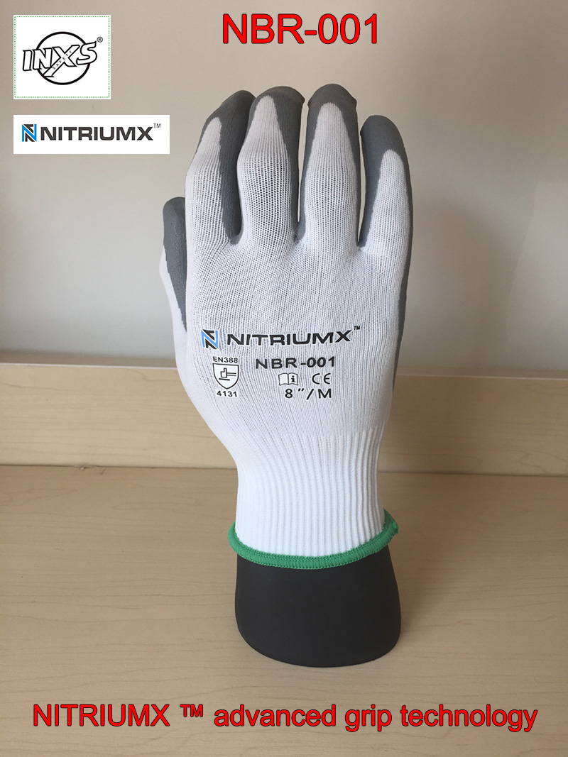 SAFETY-INXS NBR-001 Coating protective gloves Non-slip No trace mechanics gloves flexible Breathable safety gloves working racmmer cycling gloves guantes ciclismo non slip breathable mens