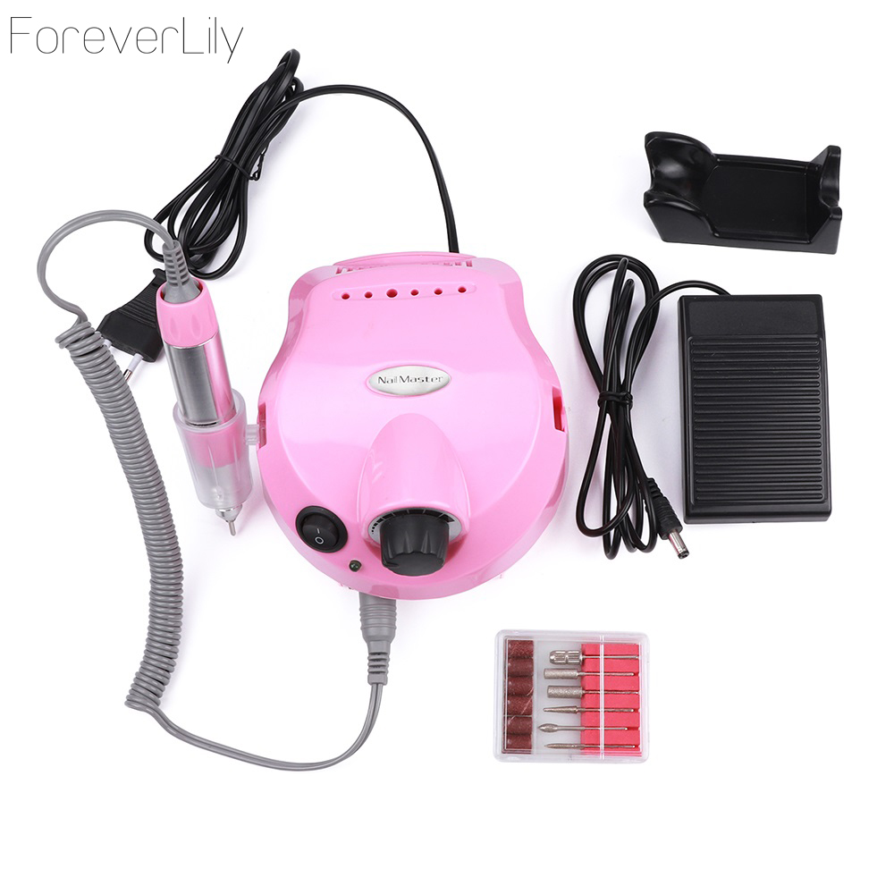 35000 RPM Pink 30w Professional Electric Nail Art Drill File Pedicure Equipment Manicure Machine Kit Nail