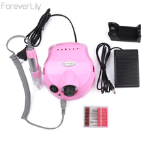 35000 RPM Pink 30w Professional Electric Nail Art Drill File Pedicure Equipment Manicure Machine Kit Nail Art Tools For Nail Gel(China)