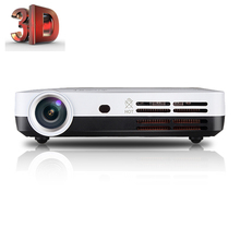 3500 Lumens Blue-Ray Real 3D Projector 1280*800 HD DLP Projector Smart 2D Convert 3D Pocket For Home/ Education Free Ship