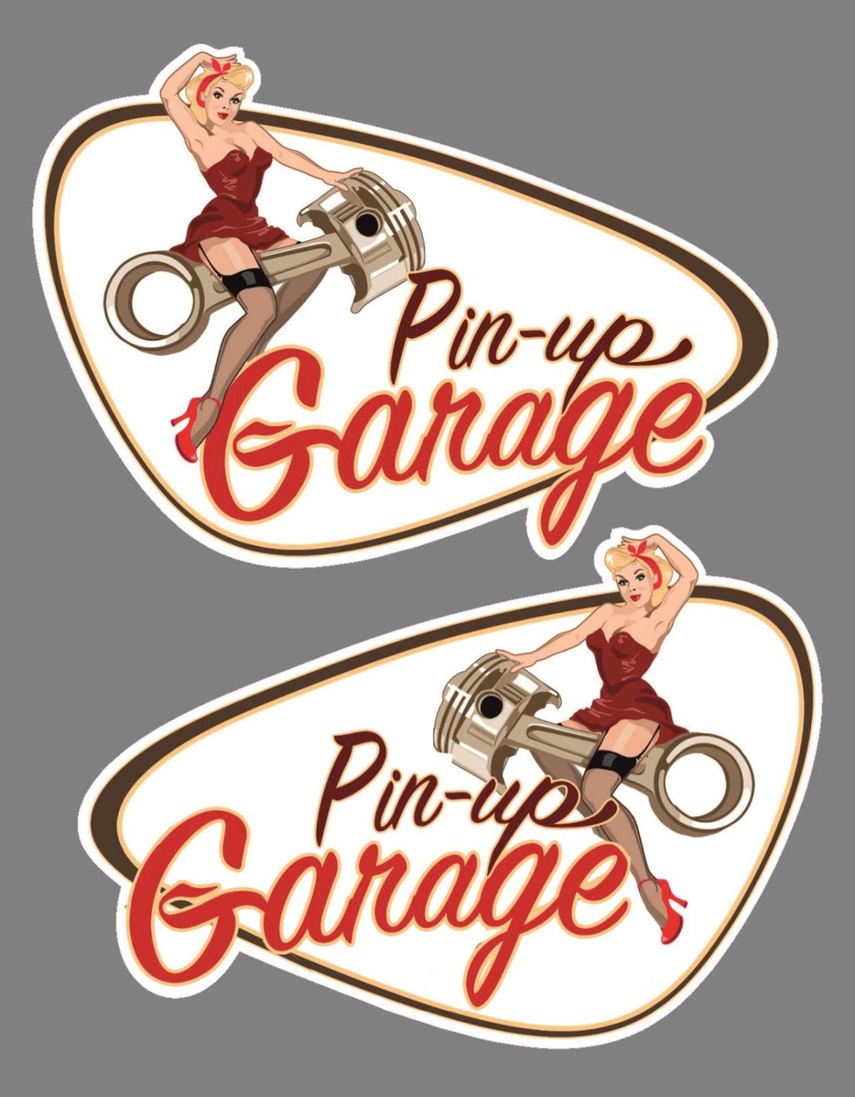 Набор Li + re Pin up старые школьные наклейки для гаража Bobber Cafe Racer Retro #8