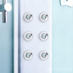 Image 2 - 6 pçs/lote spray bico de acupuntura hidráulica massagem poupança água chuveiro jatos cabine chuveiro acessórios do quarto banheiro