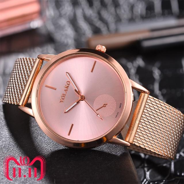 Women's Casual Quartz Silicone strap Watch Analog Wristwatch Ladies Quartz Watch