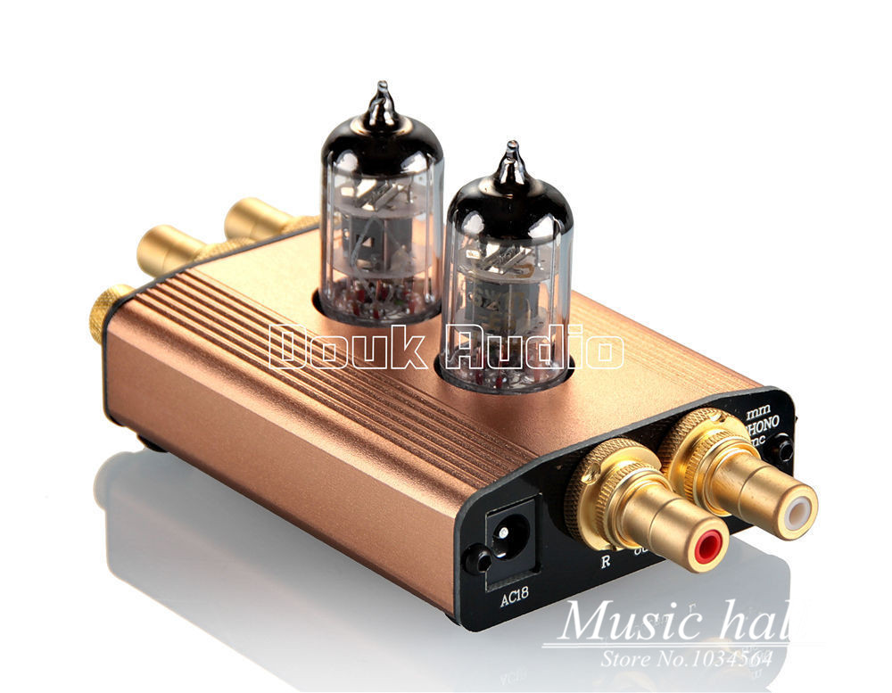bilder für 2017 neue Musik Hall High-End Mini Vakuumröhre MM Phono Plattenspieler Vorverstärker HiFi Preamp