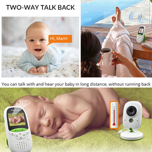Image 3 - Baby Monitor VB602 Wireless Audio Video Baba Elektronische Tragbaren Gegensprechanlage Babyfoon Kamera BeBe Nanny Walkie Talkie Babysitter