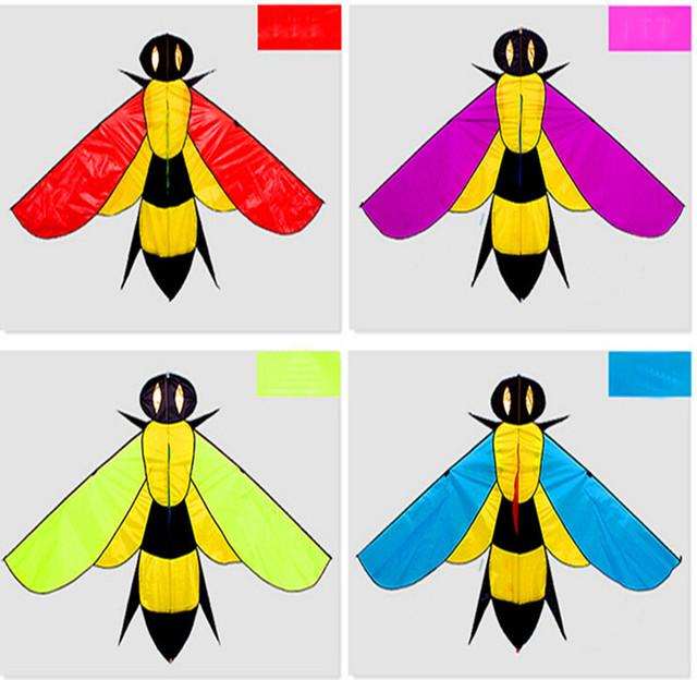 Envío de la alta calidad bee flying kite para niños con mango línea de juguetes al aire libre de nylon ripstop kite pulpo manga de viento