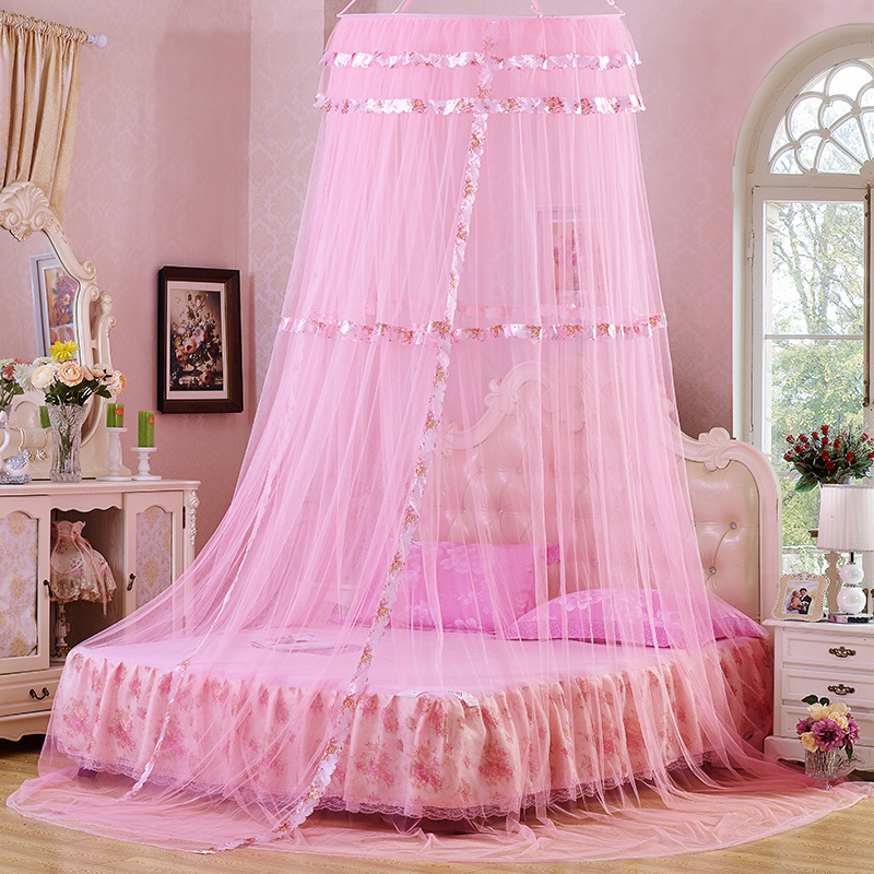 Baby Bedding Hung Princess Bed Canopy Curtain Crib Netting Lace Baby Round Mosquito Net Children Room Decoration Photography Props Baby Tent Possessing Chinese Flavors Crib Netting