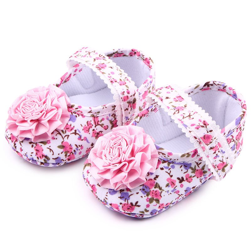 Baby Girls Shoes Cotton Floral Infant Soft Sole Shoes Toddler First Walkers Casual Baby Shoes