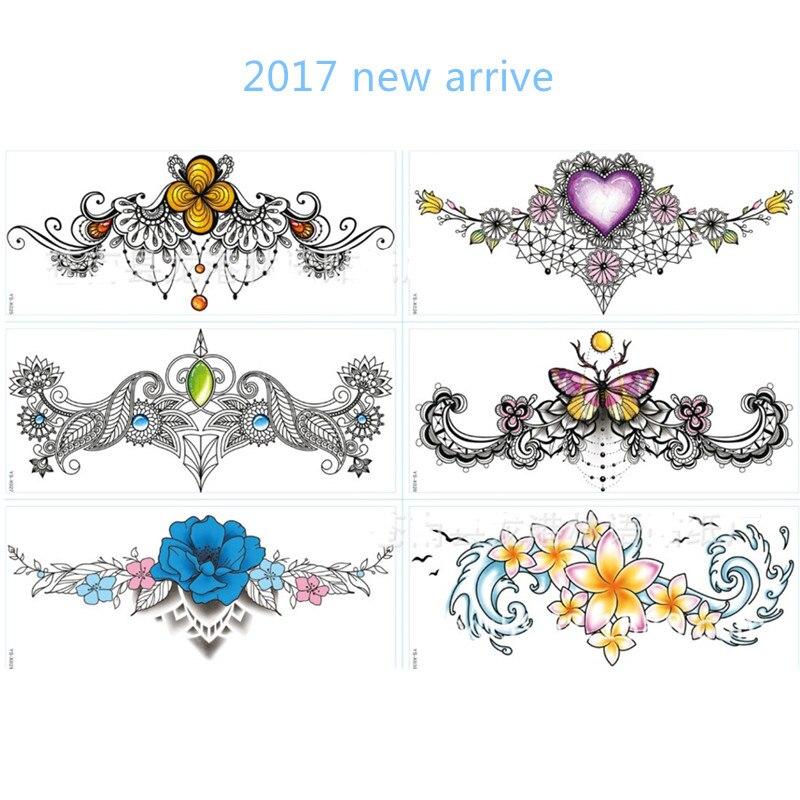 Henna Tattoo Designs Under Breast: New Arrive Metallic Waterproof Under Breast Tattoo Sexy