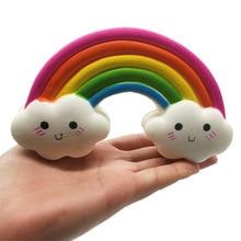 Creative Simulation Rainbow PU Slow Rebound Funny Childrens Toys Cute Bread Cake Soft Children Fun