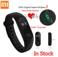 IN STOCK New 100 Original Xiaomi Mi Band 2 Miband Wistband Bracelet With Smart Heart Rate