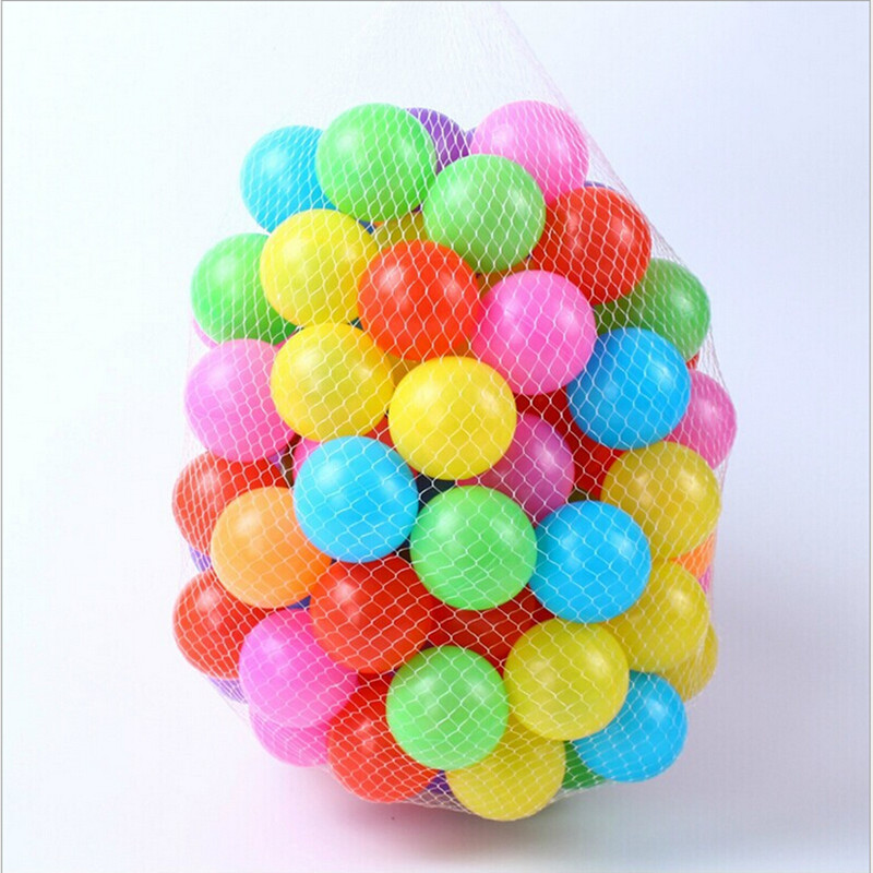 100pcs/lot Eco-Friendly Colorful Soft Plastic Water Pool Ocean Wave Ball Baby Stress Air Ball Outdoor Fun Sports for Kids Gifts