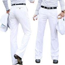 New Modis Flared pants Male Summer Straight Suit pants British leisure Free hot feet trousers Formal pants For Men Size 37