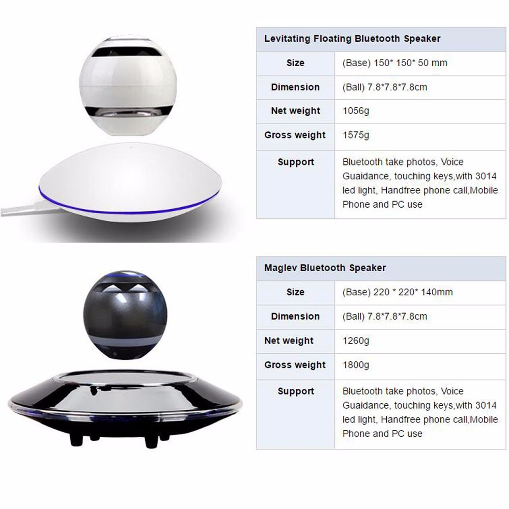 Portable Bluetooth Floating Orb Stereo Gadget Magick