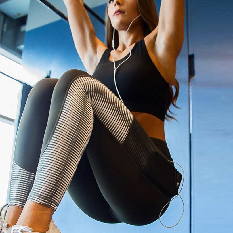Sexy Mesh Pocket Women High Waist Leggings Sports Hip Fitness Elasticity Work Out Female Push Up Leggings Casual Fashion Clothes