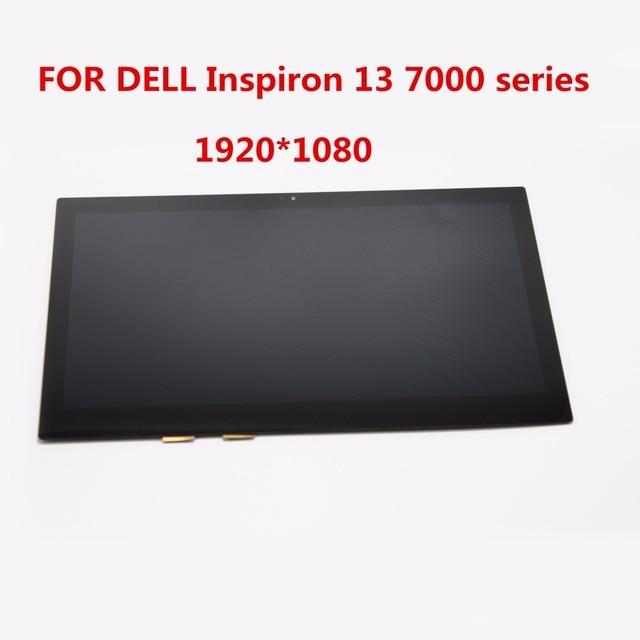 """5 unids/lote de dhl/ems 13.3 """"para dell inspiron 13 7348 7347 sp b1 p57g ltn133hl03-201 lcd digitalizador de pantalla táctil (1920*1080)"""