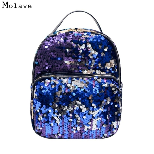 549d5f8c344f Naivety Sequins Women Backpack Fashion School Style Shoulder Bag Cool  Travel Satchel Purse 28S7517 drop shipping