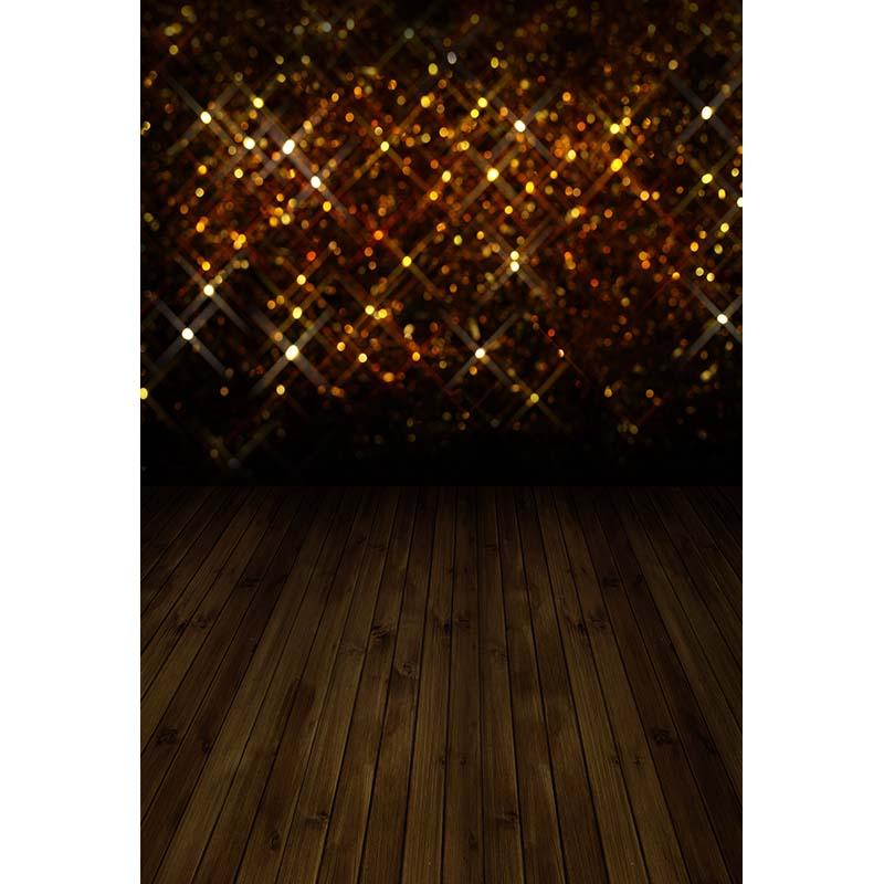 Customize vinyl cloth print 3 D gold bokeh stage light photography backdrops for wedding photo studio backgrounds props CM-3367