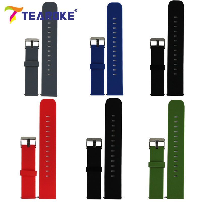 TEAROKE 20mm Silicone Strap for Samsung Galaxy Gear S2 Classic R732 Watchband Sport Watch Replacement Bracelet Band SM-R732 for samsung gear s2 classic black white ceramic bracelet quality watchband 20mm butterfly clasp