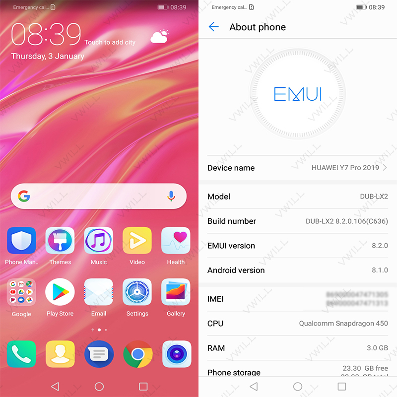 Image 3 - Global Rom Huawei Enjoy 9 Huawei Y7 PRO 2019 Mobile Phone 6.26'' Snapdragon450 Octa Core 13MP AI Dual Camera 4000mAh face unlock-in Cellphones from Cellphones & Telecommunications