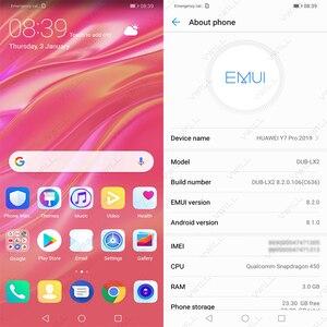 Image 3 - Móvil Rom Global Huawei Enjoy 9, huawei Y7 PRO 2019, CPU Snapdragon 450, Octa Core, pantalla de 6,26 pulgadas, cámara Dual ia de 13,0 MP, batería de 4000mAh