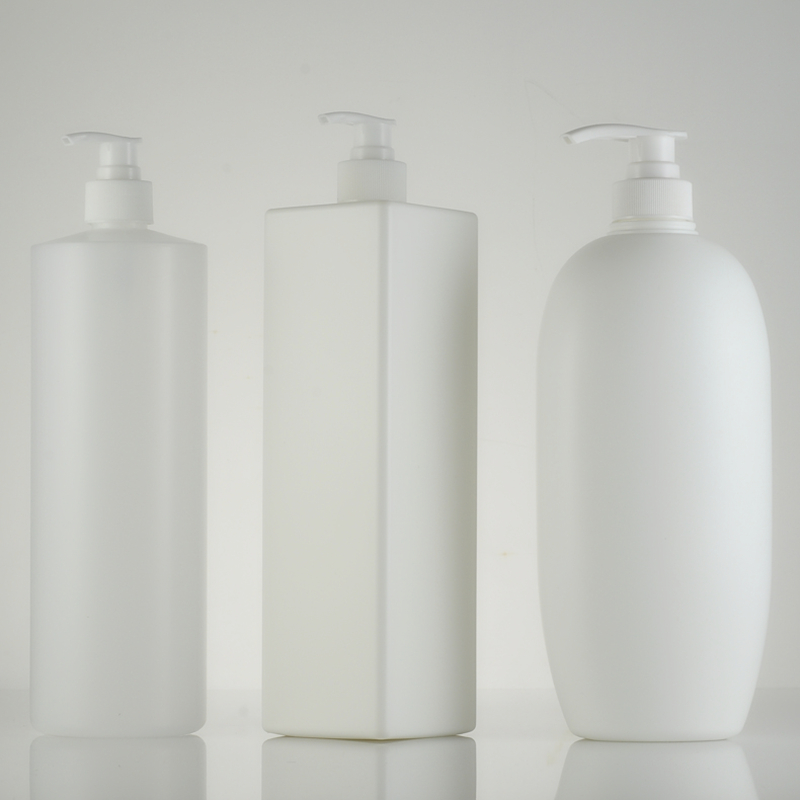Empty 1000ml Round / Flat / Square HDPE Lotion Pump Bottles,Lotion Container Large Pump Plastic Shampoo Refillable Bottles