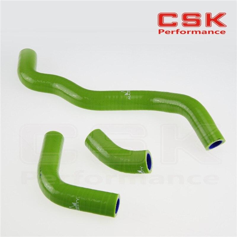 Силиконовый радиатор охлаждающей жидкости шланг для SUZUKI DRZ400S/DRZ400SM Drz400SL 2002-2011 зеленый