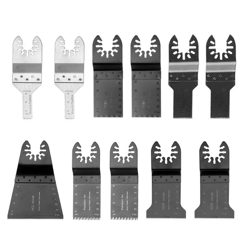 11pcs/set Multifunction Renovator Power Tools Oscillating Saw Blades Accessories Wood Metal Cutter MultiTool цена