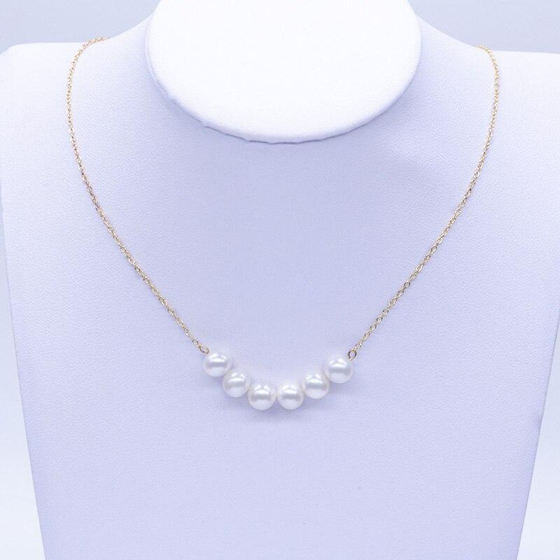 100% réel 18 k AU750 or sourire chaîne clavicule perles collier pour femmes filles enfants amant mode bijoux sourire visage conception