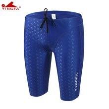 Yingfa-bañadores de entrenamiento para hombre, pantalones cortos ajustados de Sharkskin, con certificado fino, resistentes al cloro, 9205