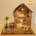 Cute room handmade diy casa de bonecas móveis em miniatura modelos & toy building crianças bebê encantador bonito presente de aniversário de madeira gh471