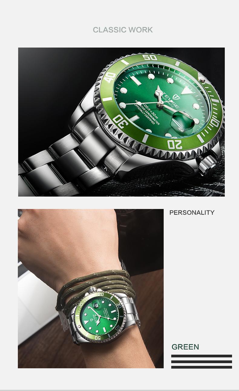 la Masculino reloj mecánicos 10