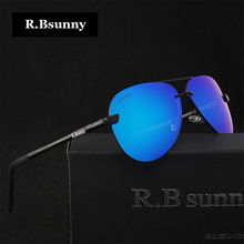 HD brand fashion polarized sunglasses Aluminum-magnesium alloy frame color coated lenses Men Women sunglasses of choice R.Bsunny