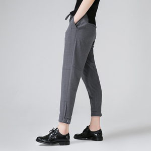 Image 4 - Toyouth Harem Pants Women 2019 Summer Loose Pants Femme Mid Wasit Ankle Length Trousers With Drawstrings